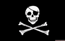 SKULL & CROSSBONES PIRATE - 8 X 5 FLAG